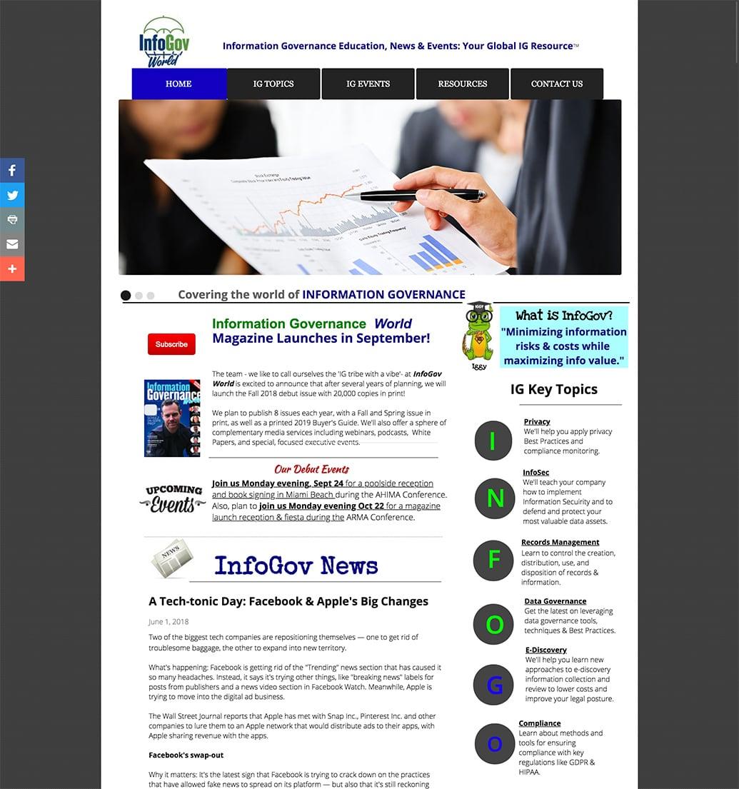 Old InfoGov World website
