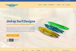 frontpage of delray surf designs